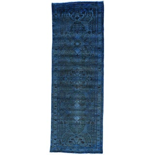Hand-Knotted Runner Overdyed Persian Lilahan Oriental Rug (3'4x9'8)
