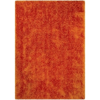 "LYKE Home Jumbo Thick Shag Area Rug Tangerine 5""0x7""0"