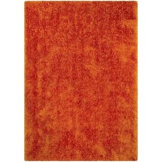 LYKE Home Jumbo Thick Shag Area Rug Tangerine - 5' x 7'