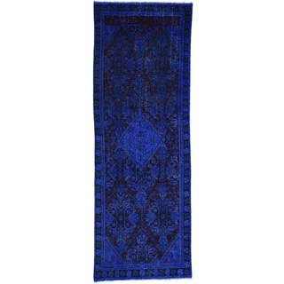 Hand-Knotted Persian Hussainabad Runner Overdyed Rug (3'8x10'6)
