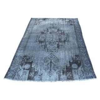 Hand-Knotted Persian Tabriz Overdyed Wool Rug (3'9x5'4)