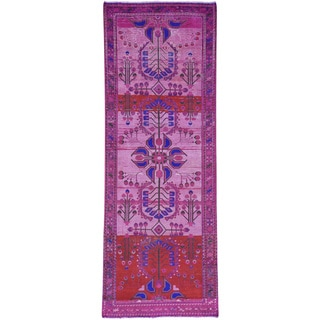 Hand-Knotted Persian Lilahan Runner Overdyed Rug (3'8x10'4)