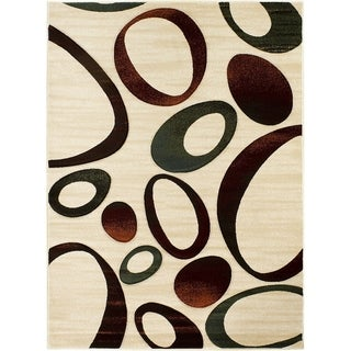 LYKE Home Hand Carved Multi Rocks Area Rug (5'3 x 7'2)