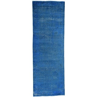 Handmade Overdyed Persian Sarouk Mir Runner Oriental Rug (3'4x10'1)