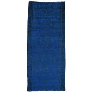 Handmade Overdyed Persian Hamadan Runner Oriental Rug (3'5x7'10)