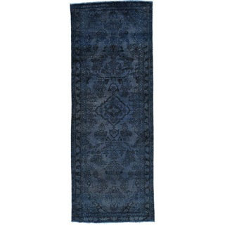 Hand-Knotted Overdyed Persian Lilahan Runner Carpet (3'6x9'5)