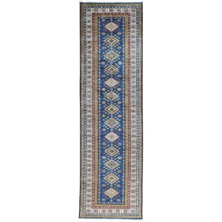 Hand-Knotted Runner Tribal Design Super Kazak Oriental Rug (2'9x9'4)