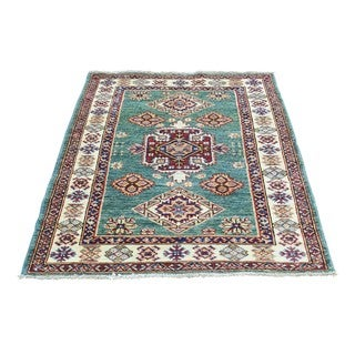 Hand-Knotted Wool Super Kazak Tribal Design Oriental Rug (2'9x4')
