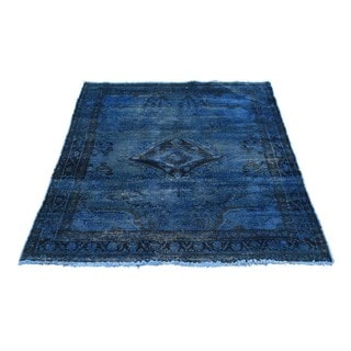 Hand-Knotted Overdyed Persian Tabriz Oriental Rug (3'5x4'3)