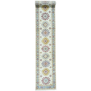 Hand-Knotted Super Kazak Runner Tribal Design Rug (2'5x16'7)