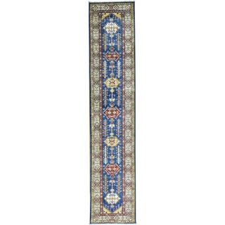 Hand-Knotted Super Kazak Runner Tribal Design Rug (2'8x12'9)