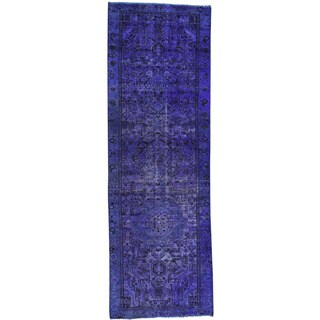 Hand-Knotted Overdyed Persian Bakhtiar Runner Rug (3'10x11'8)