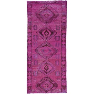Hand-Knotted Overdyed Persian Mosel Runner Rug (3'9x8'8)