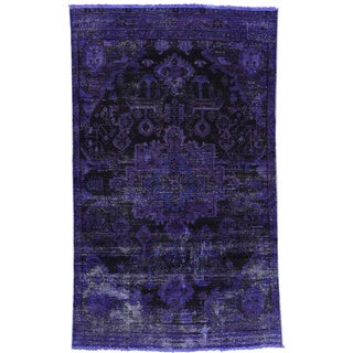Hand-Knotted Persian Bakhtiar Wool Overdyed Rug (3'7x6'1)