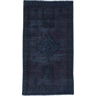 Hand-Knotted Wool Persian Bakhtiar Overdyed Rug (3'6x6'5)