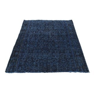 Hand-Knotted Wool Persian Hamadan Overdyed Rug (3'6x4'8)