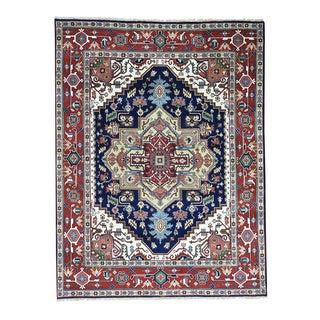 Hand-Knotted Serapi Heriz Wool Oriental Carpet (7'10x10'2)