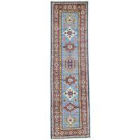 Hand-Knotted Tribal Design Runner Super Kazak Oriental Rug (2'8x9'8)