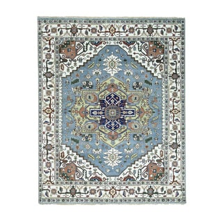 Hand-Knotted Wool Serapi Heriz Oriental Rug (7'10x9'10)