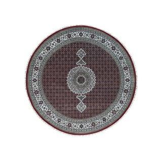 Hand-Knotted Tabriz Mahi Square wool/ silk Rug (8'1x8'1)