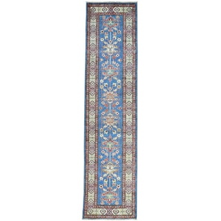 Hand-Knotted Super Kazak Runner Tribal Design Rug (2'7x10'7)