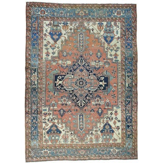 Hand-Knotted Oversize Antique Persian Serapi Rug (11'6x16'2)