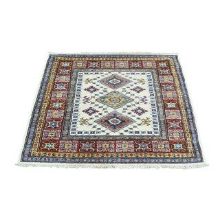 Hand-Knotted Square Super Kazak Tribal Oriental Rug (2'10x2'10)