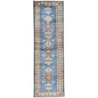 Hand-Knotted Tribal Design Runner Super Kazak Oriental Rug (2'8x8'8)