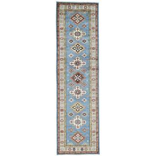 Hand-Knotted Runner Super Kazak Tribal Design Oriental Rug (2'9x9'9)