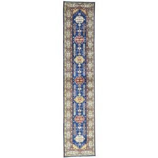 Hand-Knotted Super Kazak Runner Tribal Oriental Rug (2'8x13'1)