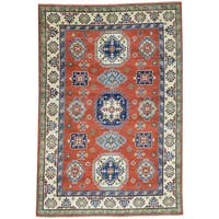 Hand-Knotted Kazak Red Tribal Design Oriental Rug (5'7x8'2)