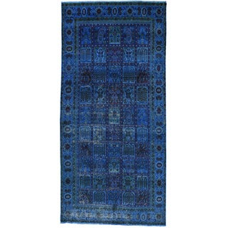 Hand-Knotted Runner Overdyed Persian Bakhtiar Oriental Rug (4'9x10')