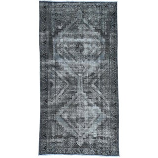 Hand-Knotted Overdyed Persian Shiraz Runner Oriental Rug (5'x9'7)