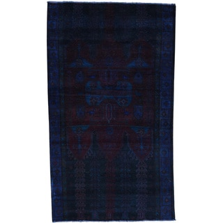 Hand-Knotted Overdyed Persian Bakhtiar Wool Oriental Rug (4'8x8'2)
