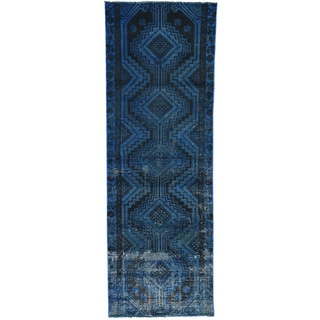 Hand-Knotted Runner Overdyed Persian Shiraz Oriental Rug (2'10x8'4)