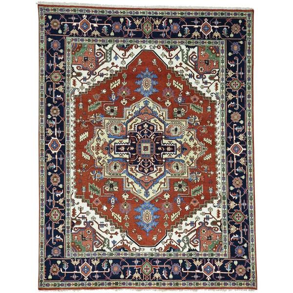 Hand Knotted Heriz Wool Fine Persian Oriental Area Rug: Shop Hand-Knotted Wool Serapi Heriz Oriental Rug (8'x10'3