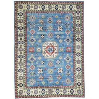 Hand-Knotted Tribal Design Kazak Wool Oriental Rug (10'2x14')