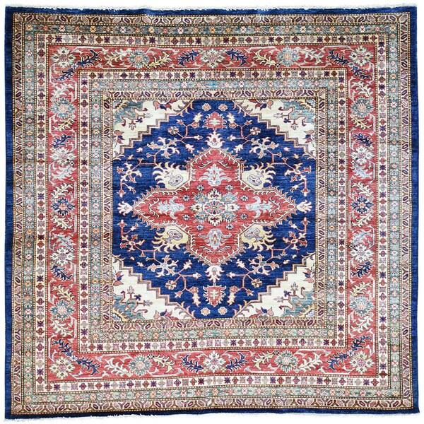 Hand-Knotted Super Kazak Tribal Design Wool Oriental Rug (6'5x6'7)