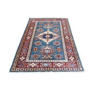 Hand-Knotted Super Kazak Wool Oriental Rug (3'3x5'5)