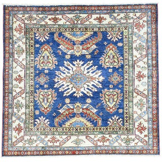 Hand-Knotted Square Super Kazak Tribal Design Oriental Rug (5'x5'1)