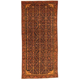 Hand-Knotted Runner Overdyed Persian Hamadan Oriental Rug (4'6x9'8)