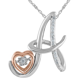 925 Sterling Silver 1/10ct T.W. 'Alphabet A' Pendant (I-J, I2-I3)