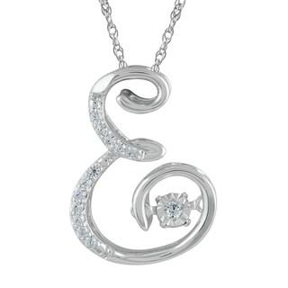 925 Sterling Silver 1/10ct T.W. 'Alphabet E' Pendant (I-J, I2-I3)