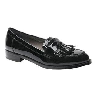 Women's Ros Hommerson Darby Tassel Loafer Black Patent