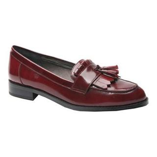 Women's Ros Hommerson Darby Tassel Loafer Wine Patent