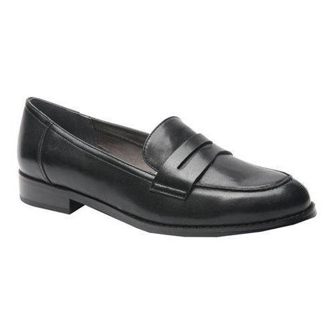 Women's Ros Hommerson Delta Penny Loafer Black Leather