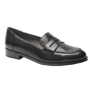 Women's Ros Hommerson Delta Penny Loafer Black Leather (More options available)