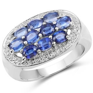 Malaika 2.20 Carat Genuine Kyanite .925 Sterling Silver Ring