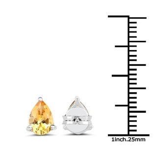 Malaika 1.18 Carat Genuine Citrine .925 Sterling Silver Earrings