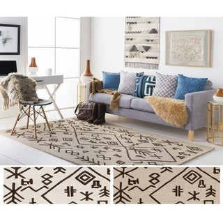 Hand-Tufted Track Wool Rug (9' x 13')